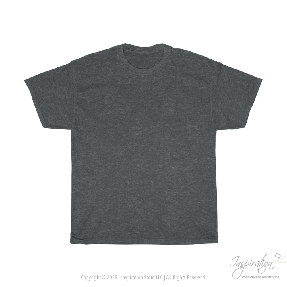 Customify Unisex Heavy Cotton Tee - Free Shipping - T-Shirt - Dark Heather / S - Inspiration Store Llc