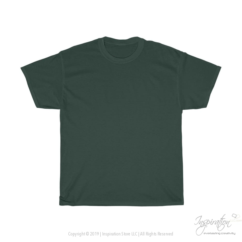 Customify Unisex Heavy Cotton Tee - Free Shipping - T-Shirt - Forest Green / S - Inspiration Store Llc