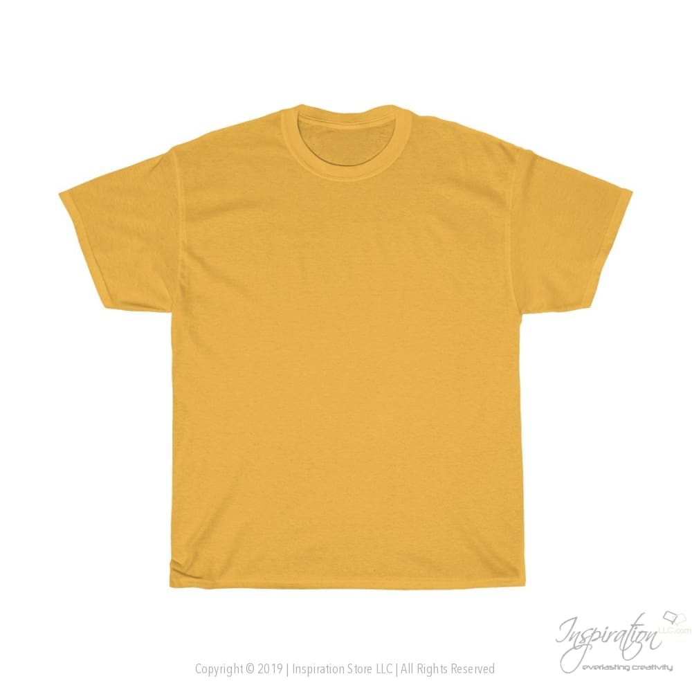 Customify Unisex Heavy Cotton Tee - Free Shipping - T-Shirt - Gold / S - Inspiration Store Llc