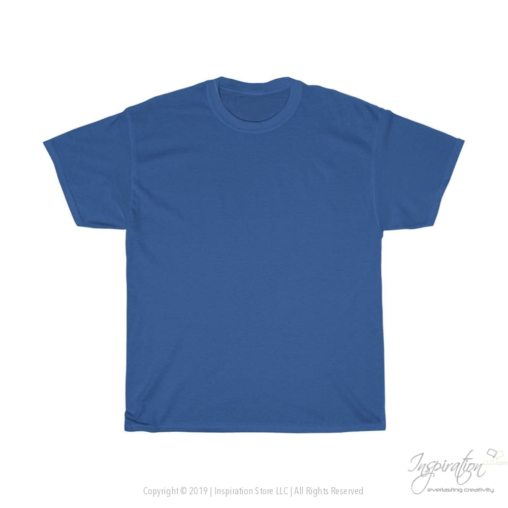 Customify Unisex Heavy Cotton Tee - Free Shipping - T-Shirt - Royal / S - Inspiration Store Llc