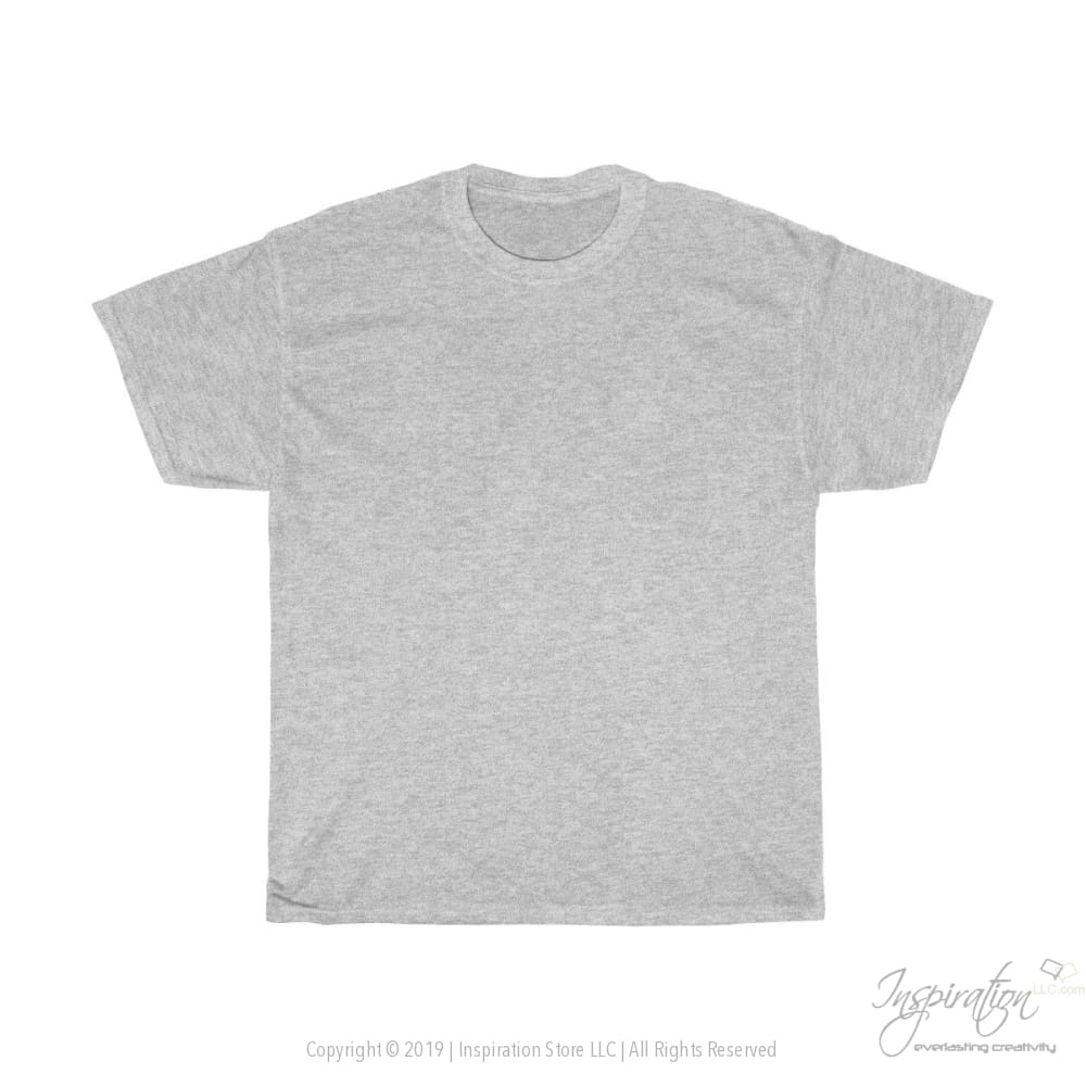 Customify Unisex Heavy Cotton Tee - Free Shipping - T-Shirt - Sport Grey / S - Inspiration Store Llc
