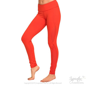 Cutout Mesh Panel Yoga Leggings Free Shipping - Leggings - Red / Xs - Inspiration Store Llc