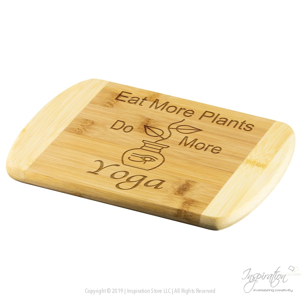 Eat Plants Do Yoga Cutting Board (Style A) Free Shipping - Wood Cutting Boards - Inspiration Store Llc
