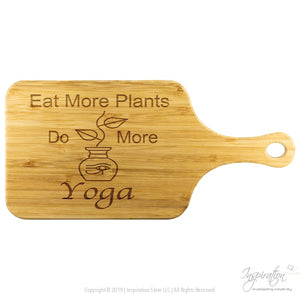 Eat Plants Do Yoga Cutting Board (Style B) Free Shipping - Wood Cutting Boards - Wood Cutting Board With Handle - Inspiration Store Llc