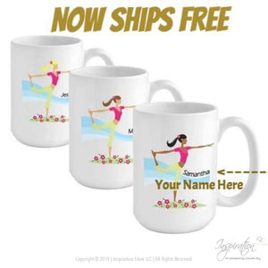 Go-Girl Coffee Mug - Yoga (Style A) Personalizable - Now Ships Free - Personalizationpop Items - Inspiration Store Llc