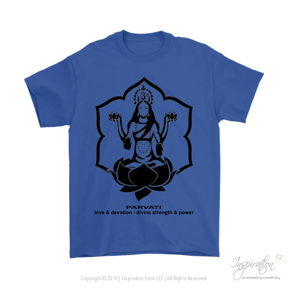 Goddess Parvati - (Style B Mens) - T-Shirt - Gildan Mens T-Shirt / Royal Blue / S - Inspiration Store Llc