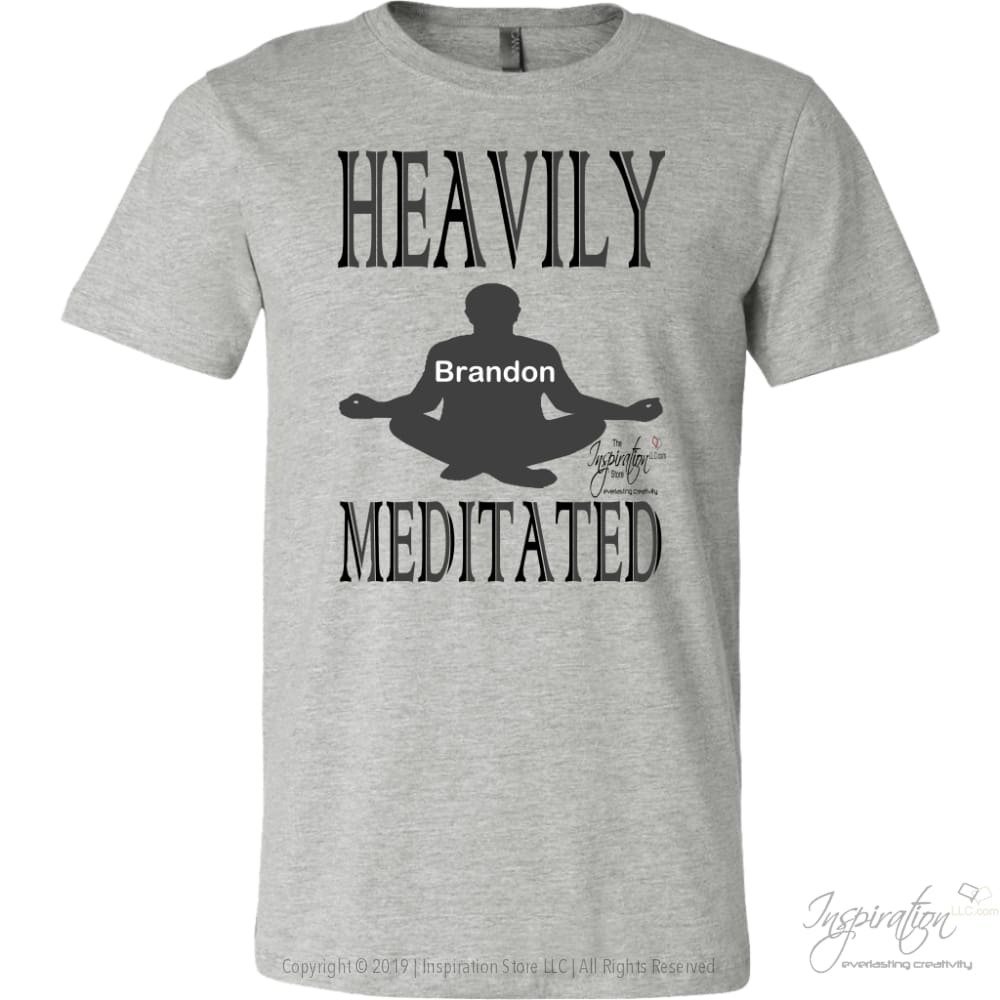 Heavily Meditated - Brandon - T-Shirt - Canvas Mens Shirt / Athletic Heather / S - Inspiration Store Llc