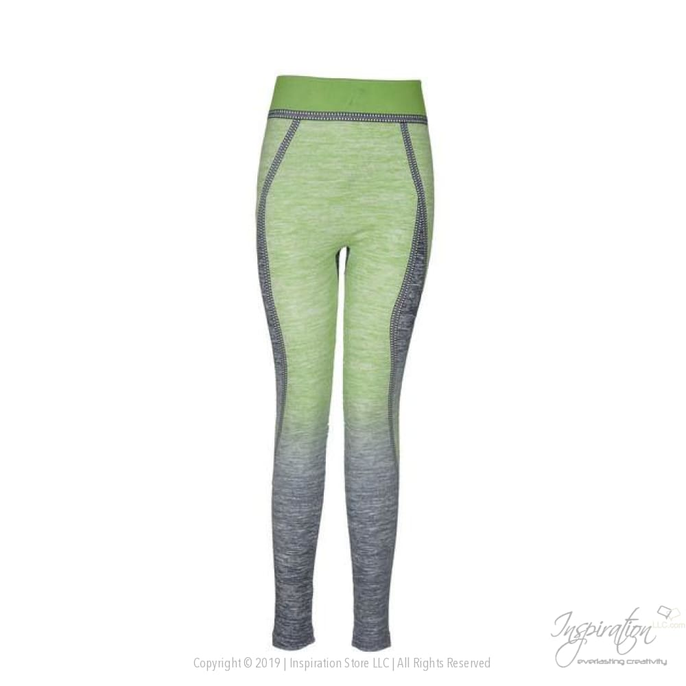 High Waist Body Shaper Yoga Pants - Yoga Wear - Green / One Size - Inspiration Store Llc