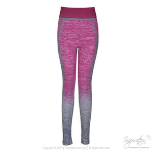 High Waist Body Shaper Yoga Pants - Yoga Wear - Hot Pink / One Size - Inspiration Store Llc