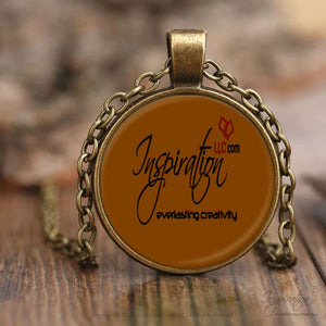 Inspiration Logo Necklace - (2 Styles) - Necklaces - Necklace - Antique Brass - Inspiration Store Llc