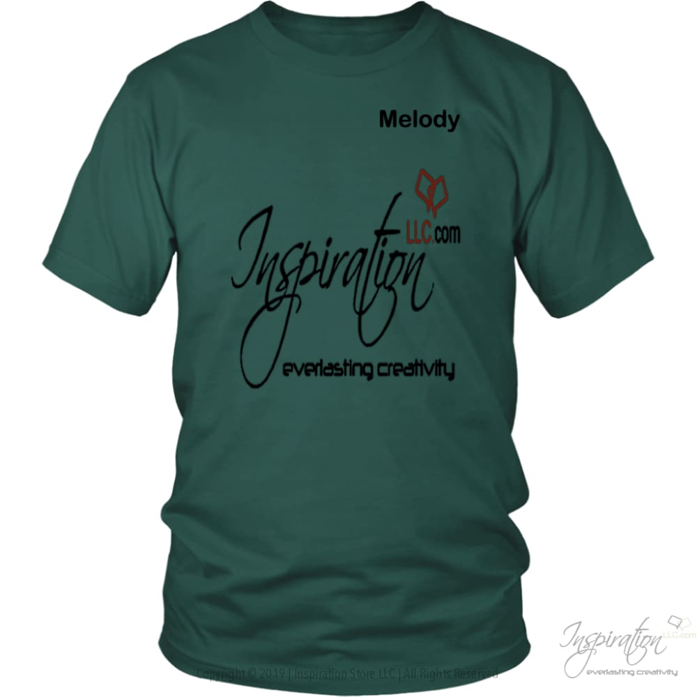 Inspiration - Melody - T-Shirt - District Unisex Shirt / Dark Green / S - Inspiration Store Llc