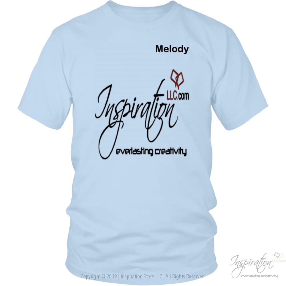 Inspiration - Melody - T-Shirt - District Unisex Shirt / Ice Blue / S - Inspiration Store Llc
