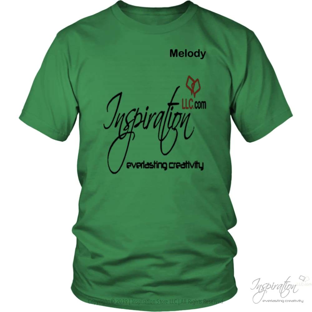 Inspiration - Melody - T-Shirt - District Unisex Shirt / Kelly Green / S - Inspiration Store Llc