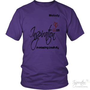 Inspiration - Melody - T-Shirt - District Unisex Shirt / Purple / S - Inspiration Store Llc