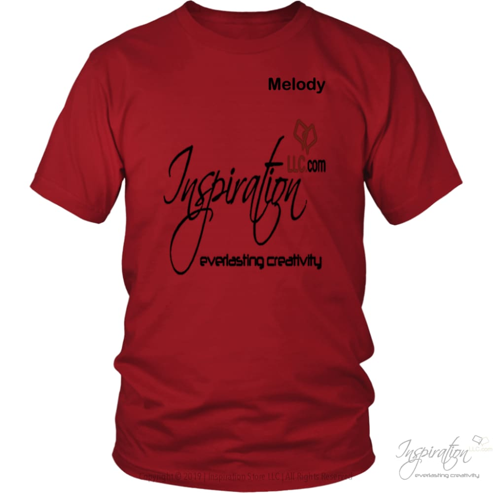 Inspiration - Melody - T-Shirt - District Unisex Shirt / Red / S - Inspiration Store Llc