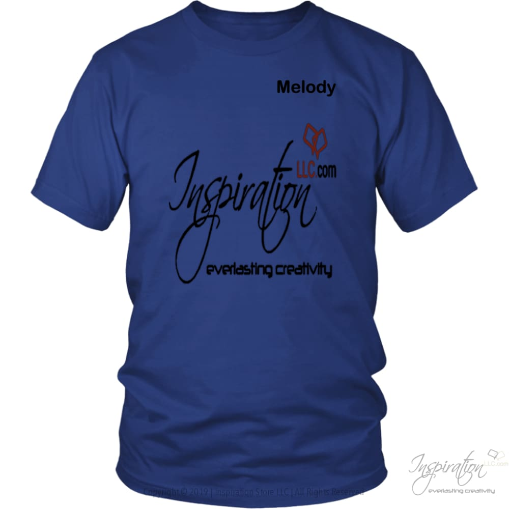 Inspiration - Melody - T-Shirt - District Unisex Shirt / Royal Blue / S - Inspiration Store Llc