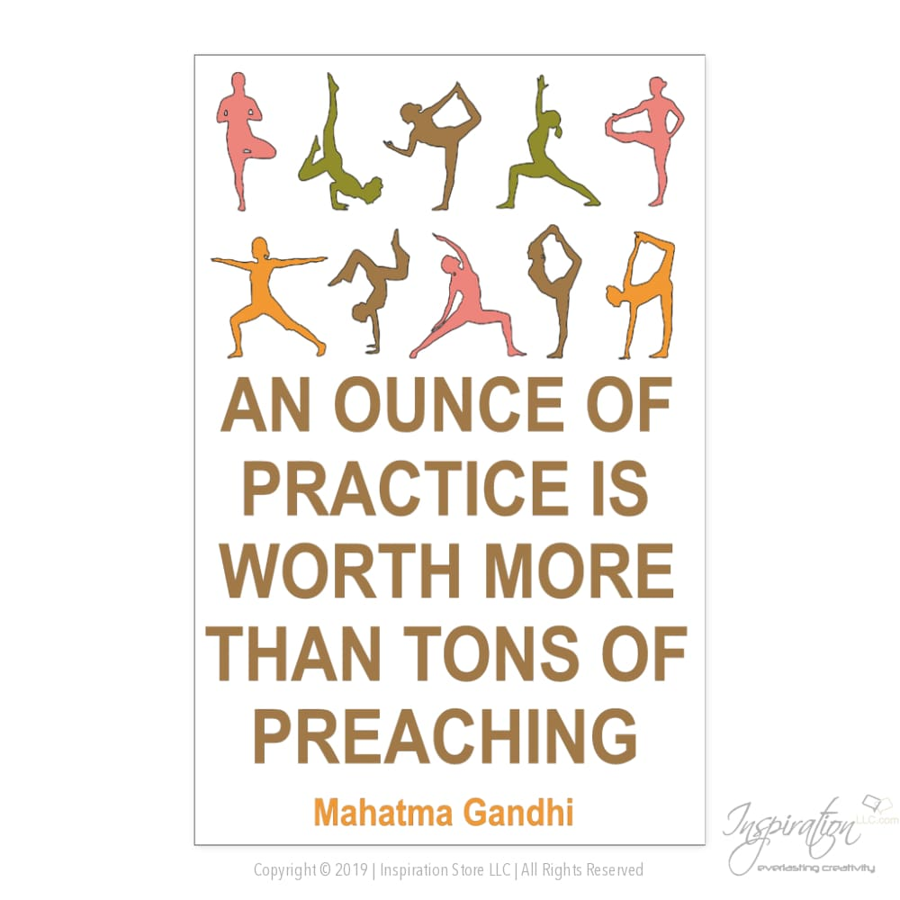Inspirational Poster - (Gandhi Quote A) - Posters - Poster - 11X17 - Inspiration Store Llc