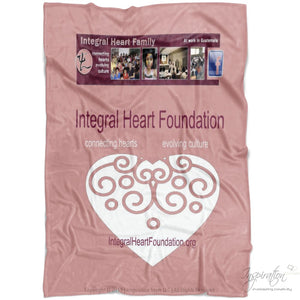 Integral Heart Fleece Blanket (Style C) - Blankets - Small Fleece Blanket (40X30) - Inspiration Store Llc