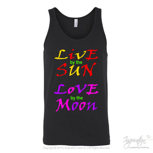 Live Sun Love Moon *by Inspiration - T-Shirt - Canvas Unisex Tank / Black / S - Inspiration Store Llc