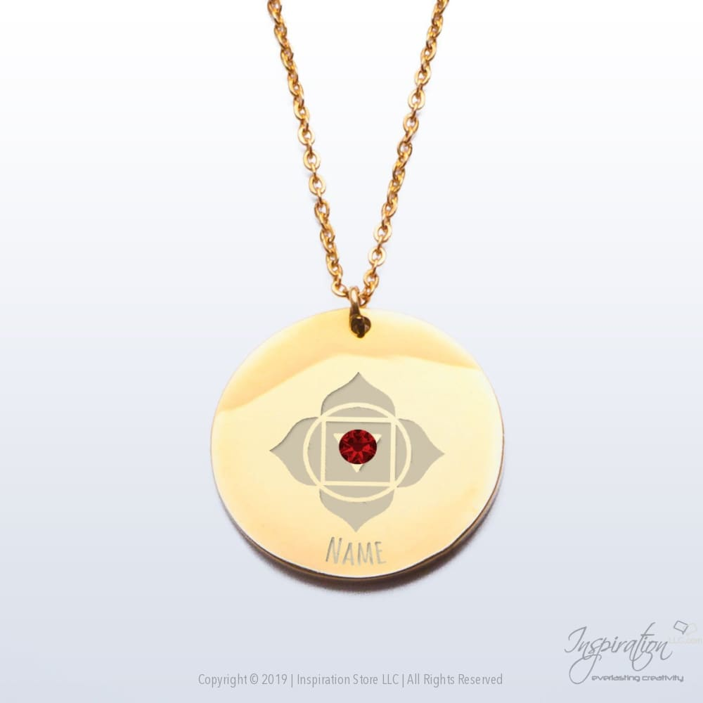 Muladhara Chakra Premium Pendant - (2 Styles) *personalizable - Pendant - Gold Plated Stainless Steel - Inspiration Store Llc