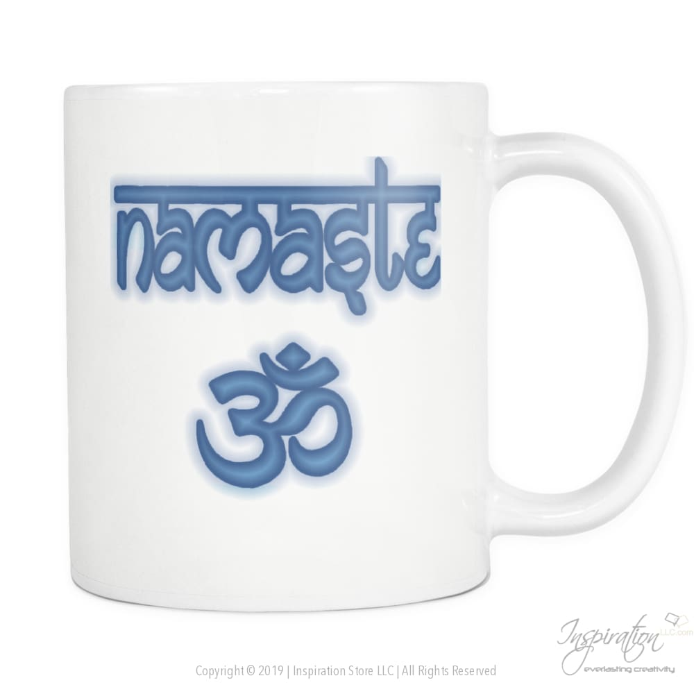 Namaste 11Oz Mug Promo - Free Coupon Available - Drinkware - Style B Teal - Inspiration Store Llc
