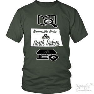 Namaste In Nd - (Style A) - District Unisex Shirt / Olive / S - Inspiration Store Llc