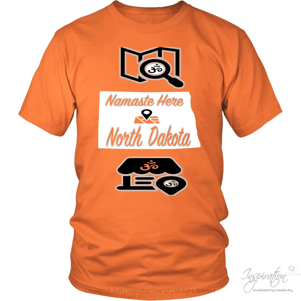 Namaste In Nd - (Style A) - District Unisex Shirt / Orange / S - Inspiration Store Llc