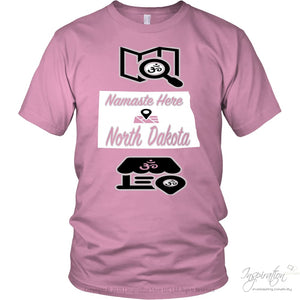 Namaste In Nd - (Style A) - District Unisex Shirt / Pink / S - Inspiration Store Llc