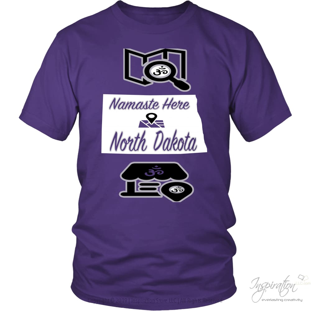 Namaste In Nd - (Style A) - District Unisex Shirt / Purple / S - Inspiration Store Llc