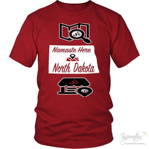 Namaste In Nd - (Style A) - District Unisex Shirt / Red / S - Inspiration Store Llc