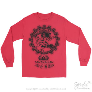 Nataraja Lord Of The Dance - (Style C Unisex) - T-Shirt - Gildan Long Sleeve Tee / Red / S - Inspiration Store Llc