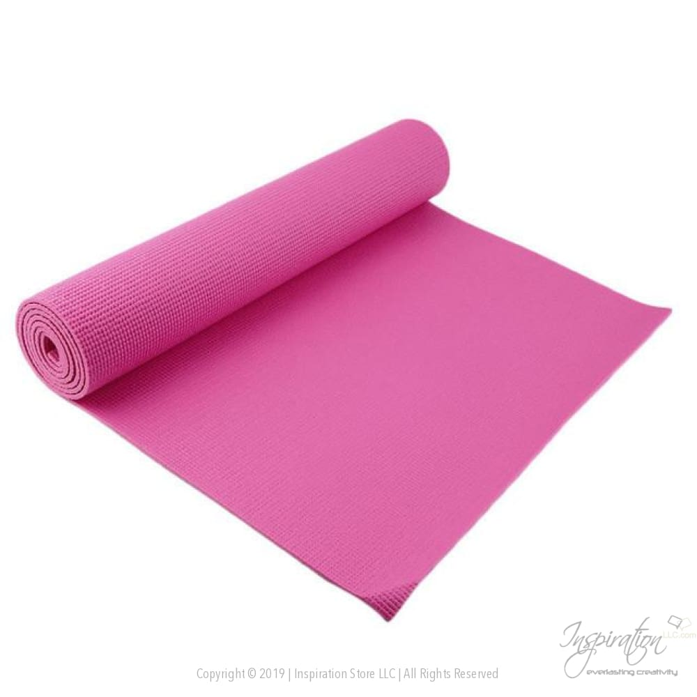 Non-Slip Thick Yoga Mat - Pink - Inspiration Store Llc