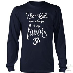 Odds In My Favor - (Style B) - T-Shirt - District Long Sleeve Shirt / Navy / S - Inspiration Store Llc