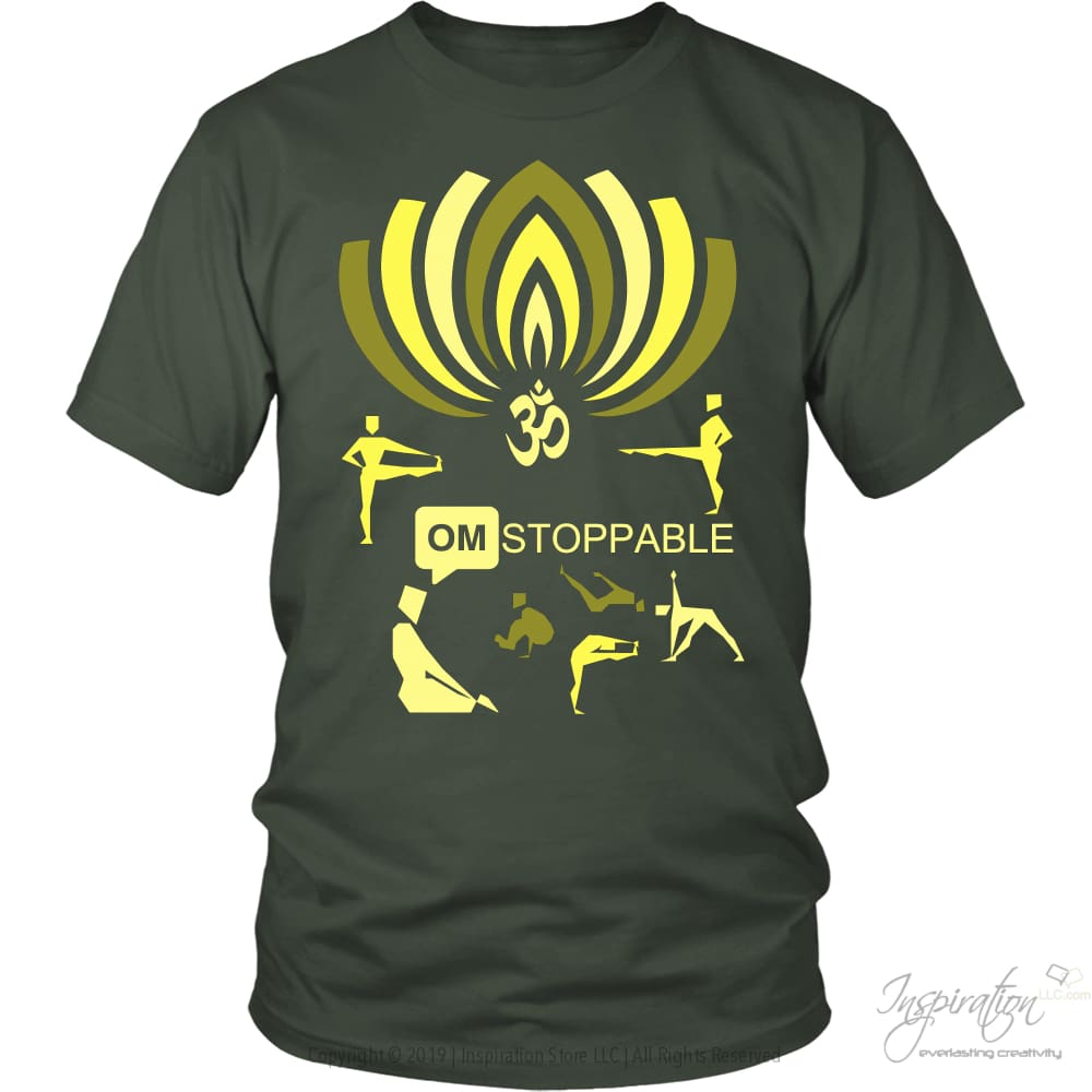 Omstoppable - (Style A) - T-Shirt - District Unisex Shirt / Olive / S - Inspiration Store Llc