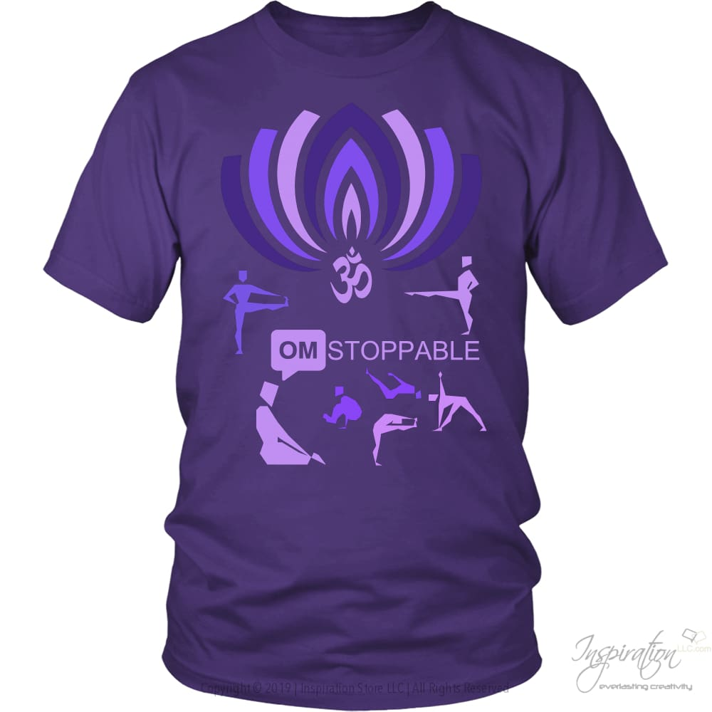 Omstoppable - (Style B) - T-Shirt - District Unisex Shirt / Purple / S - Inspiration Store Llc