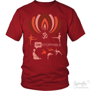 Omstoppable - (Style D) - T-Shirt - District Unisex Shirt / Red / S - Inspiration Store Llc