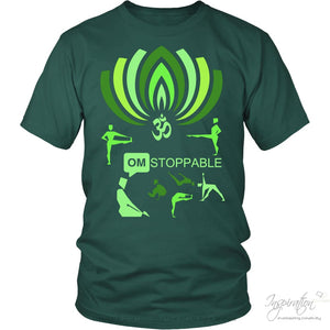Omstoppable - (Style E) - T-Shirt - District Unisex Shirt / Dark Green / S - Inspiration Store Llc