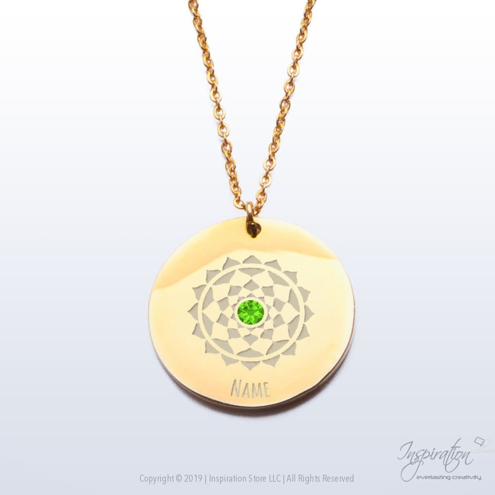Sahasrara Chakra Premium Pendant - (2 Styles) *personalizable - Pendant - Gold Plated Stainless Steel - Inspiration Store Llc