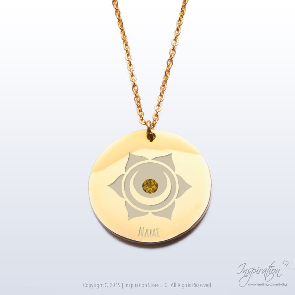 Svadhisthana Chakra Premium Pendant - (2 Styles) *personalizable - Pendant - Gold Plated Stainless Steel - Inspiration Store Llc