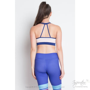 Two Tone Quest Yoga Sports Bra - (Style B) Free Shipping - Yoga Wear - Inspiration Store Llc