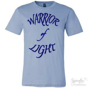 Warrior Of Light - (Style A) - T-Shirt - Canvas Mens Shirt / Baby Blue / S - Inspiration Store Llc