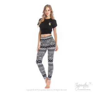 Yoga Band Material Leggings - (Style #19) Free Shipping - Leggings - Inspiration Store Llc
