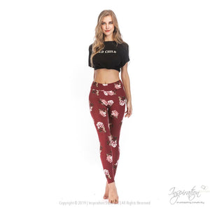 Yoga Band Material Leggings - (Style #25) Free Shipping - Leggings - Inspiration Store Llc