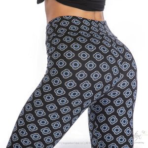 Yoga Band Material Leggings - (Style #40) Free Shipping - Yoga Wear - Inspiration Store Llc