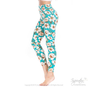 Yoga Band Material Leggings - (Style #7) Free Shipping - Leggings - Inspiration Store Llc