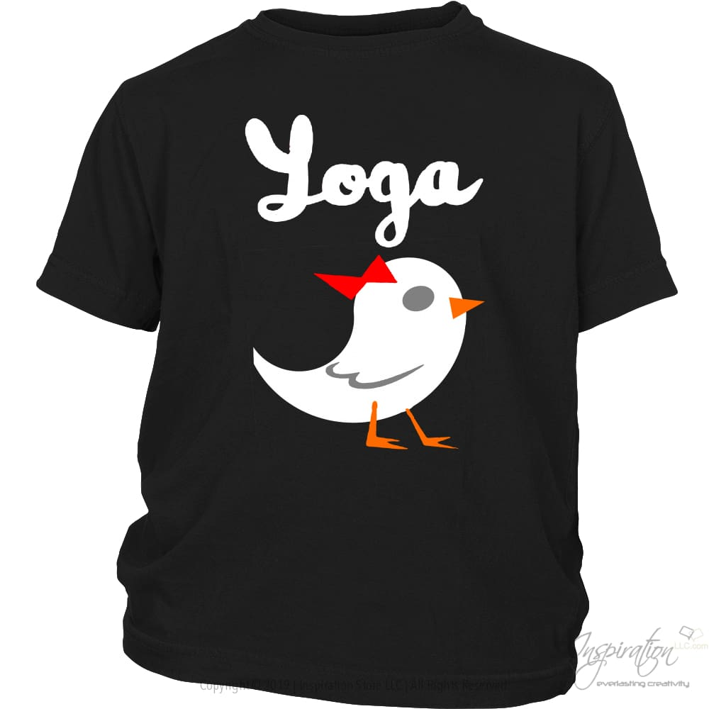 Yoga Chick - (Style A) - T-Shirt - District Youth Shirt / Black / Xs - Inspiration Store Llc