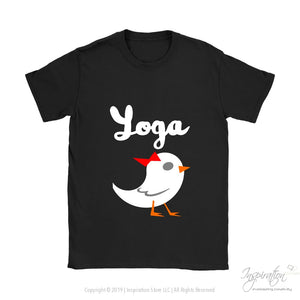 Yoga Chick - (Style A) - T-Shirt - Gildan Womens T-Shirt / Black / S - Inspiration Store Llc