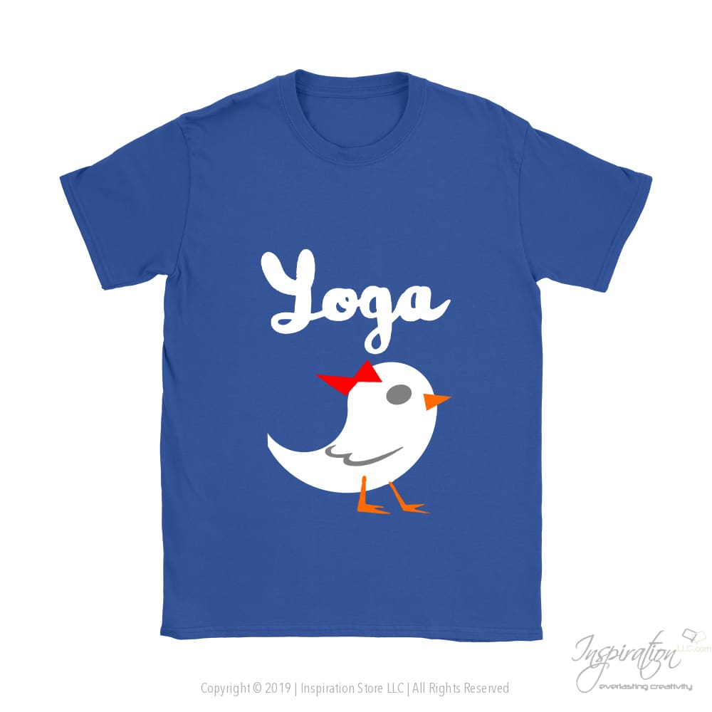 Yoga Chick - (Style A) - T-Shirt - Gildan Womens T-Shirt / Royal Blue / S - Inspiration Store Llc