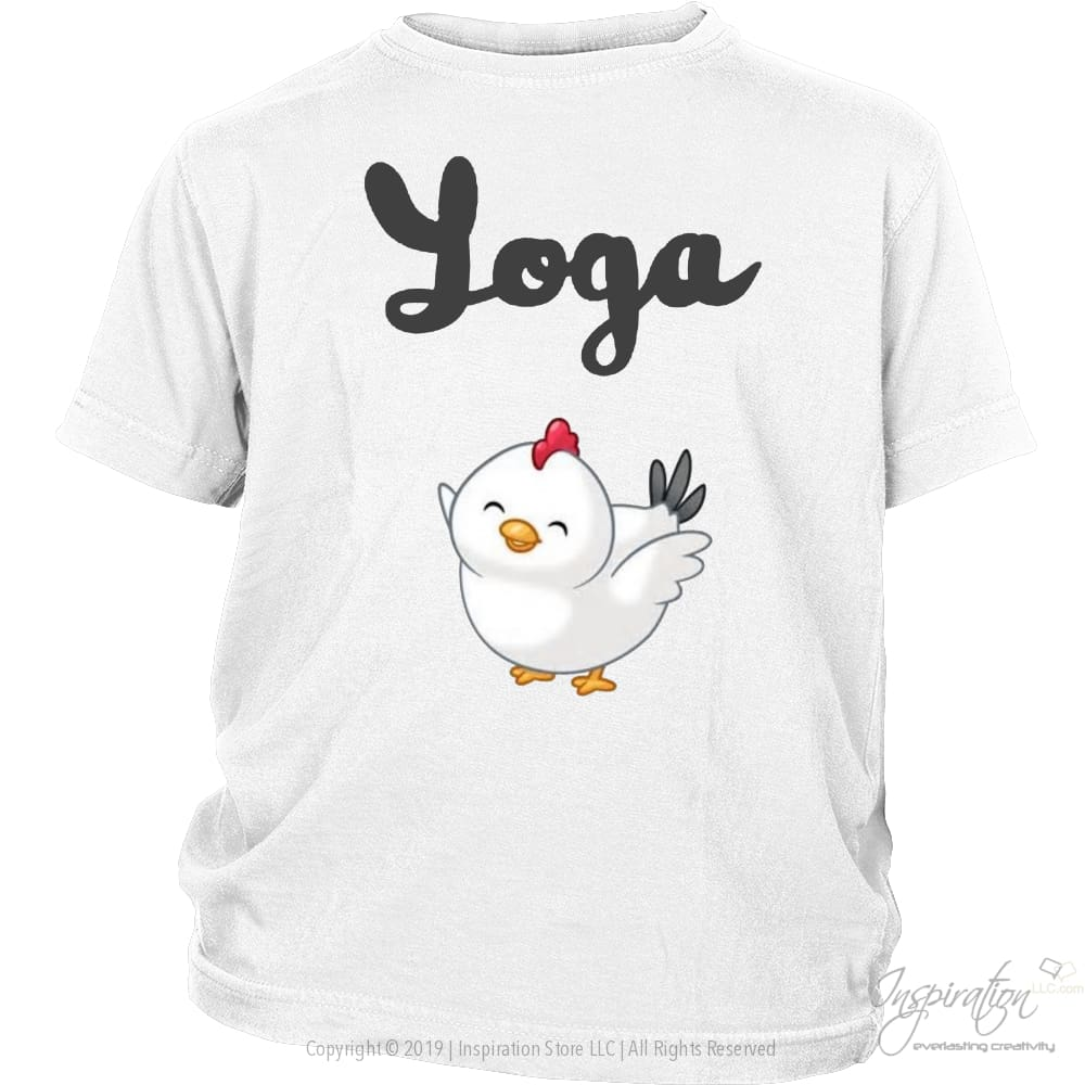 Yoga Chick - (Style B) - T-Shirt - District Youth Shirt / White / Xs - Inspiration Store Llc
