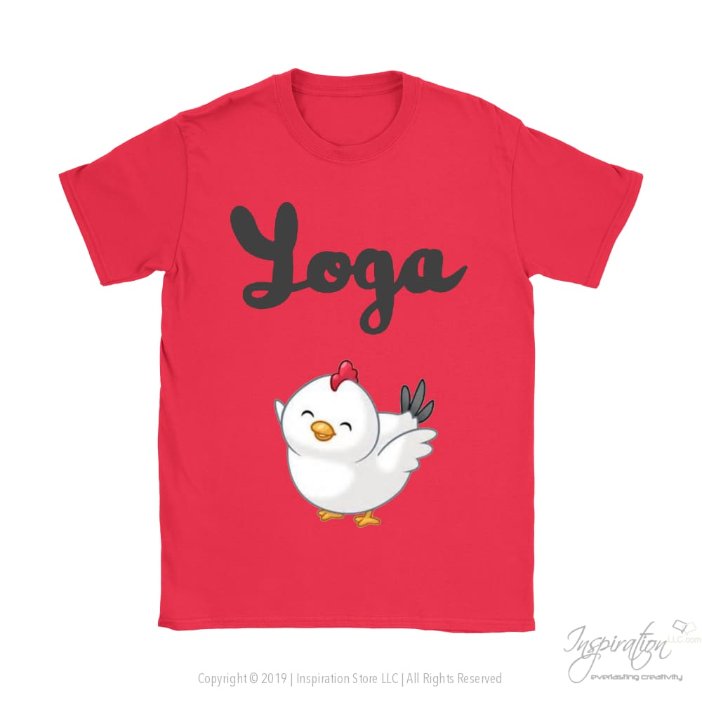 Yoga Chick - (Style B) - T-Shirt - Gildan Womens T-Shirt / Red / S - Inspiration Store Llc